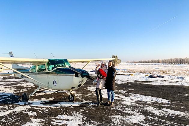 Предложение руки и сердца на самолете в Казани