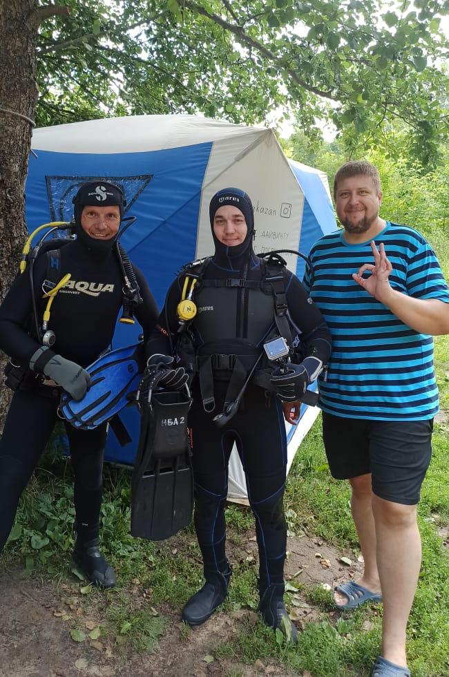Дайвинг на Голубом озере в Казани. Цель №1 - DONE